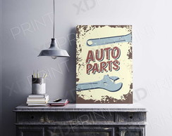 Quadro Placa Decorativo - Auto Parts