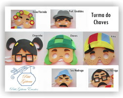 Máscaras Turma do Chaves de EVA