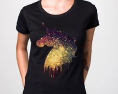 T-shirt Unicórnio Galaxy