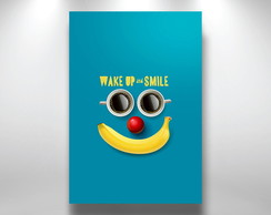 Placa Decorativa wake and smile