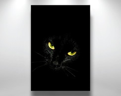 Placa Decorativa Gato preto