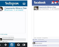 Placas Facebook ou Instagram
