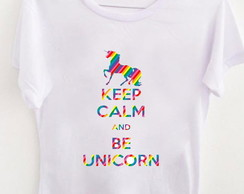 T-shirt Keep Calm Unicórnio