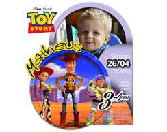 Convite Toy Story Digital - Arte 01