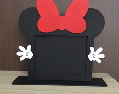 Porta Retrato Minnie MDF 20x15