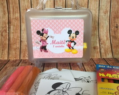Maletinha Kit Pintura Minnie Rosa