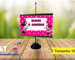 Mini Banner 10x15 Minnie rosa 2