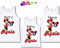 Kit Camisas Regata Minnie