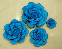 quarteto flores de papel gigante