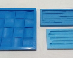 Kit 3 Moldes Silicone Placas Decorativas