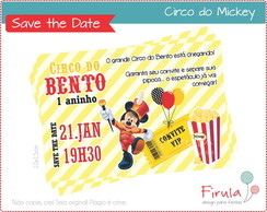 Save the Date Digital Circo Mickey