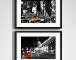 2 Quadros Nova York Londres com Paspatur