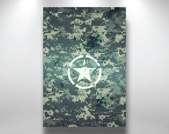 Placa Decorativa camuflagem