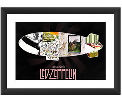 Quadro Led Zeppelin Banda Rock Poster Lp