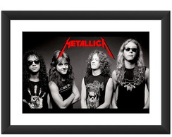 Quadro Metallica Banda Rock Metal Musica