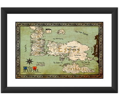Quadro Mapa Game of Thrones Seriado