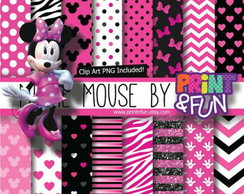 Kit Papel Digital Minnie Rosa