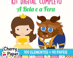 Kit Digital Completo - A Bela e a Fera