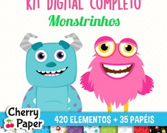 Kit Digital Completo - Monstrinhos