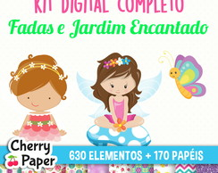 Kit Digital Completo - Fadas