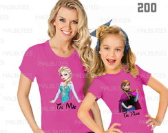 Kit de Camisetas Frozen Elsa Anna