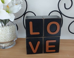 Letra Decorativa Cubo Love