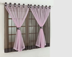 CORTINA 2M X 1,70M INFANTIL TABACO/ROSA