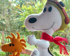 Snoopy aviador e Woodstock