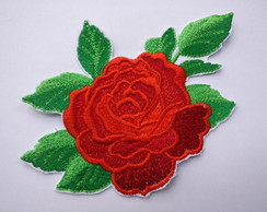 Patch Bordado Termocolante Rosas Flores