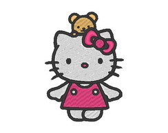 Matriz de bordado - Hello Kitty ursinho