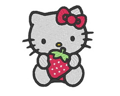 Matriz de bordado - Hello Kitty morango