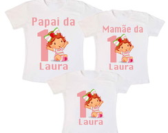 Kit 3 Camiseta Moranguinho Baby