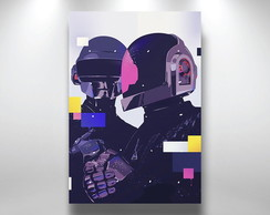Placa Decorativa Daft Punk