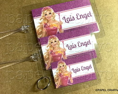 Kit 3 Bagtags - BARBIE PORTAL SECRETO