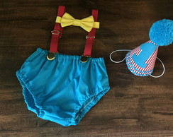 conjunto smash the cake circo vintage
