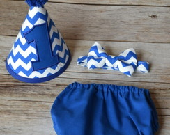 conjunto smash the cake chevron azul