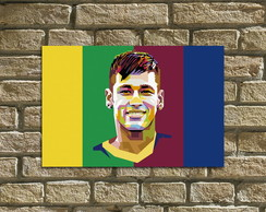 "Placa Decorativa ""Famosos - Neymar"""