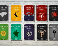 Kit com 10 Quadros Game Of Thrones