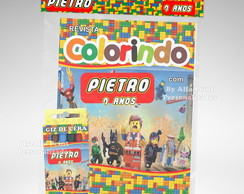 Kit Colorir Lego + Brindes