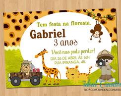Convite Aniversário Safari Elo7
