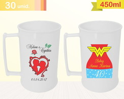 IMP. COLORIDA Caneca 450ml - 30 UNID