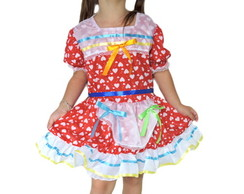 vestido de festa junina infantil curto