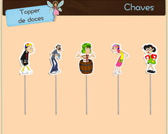 Chaves | Topper para doces