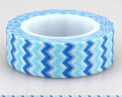 Washi Tape Chevron Azul - 10m
