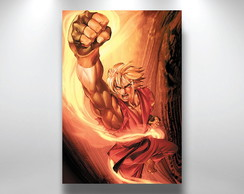 Placa poster Street Fighter