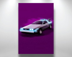 Placa poster retro vintage delorean