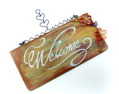 Placa Welcome - UNIDADE