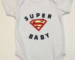 Body Customizado - Super Baby