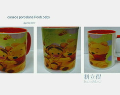 Caneca porcelana color Disney Pooh baby
