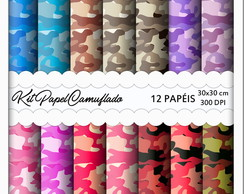 Papel Digital Camufldo